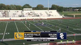 Solon Boys Soccer vs Olmsted Falls 9/26/2020 - JV \u0026 Varsity