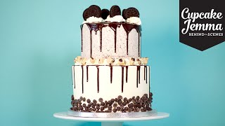 Behind the Scenes at C&D: Double-stacked Cookie Dough Oreo Cake | Cupcake Jemma