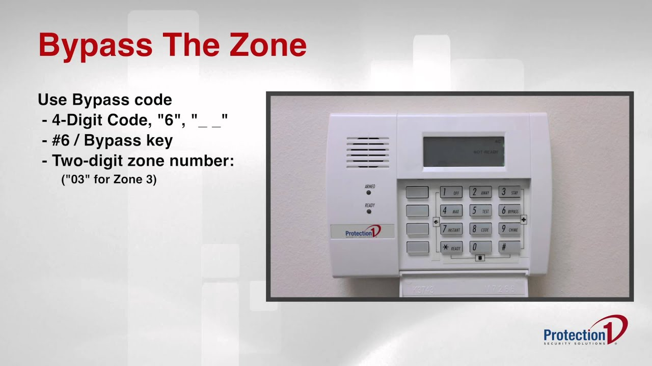 How To Bypass A Zone On Your Honeywell Alarm System Youtube Bell Box Wiring