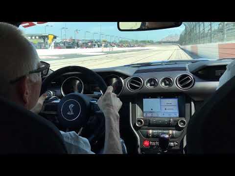 Darlington pace car ride with Mark Martin