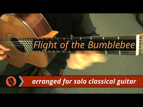 N RimskyKorsakov  Flight of the Bumblebee, arranged for Classical Guitar