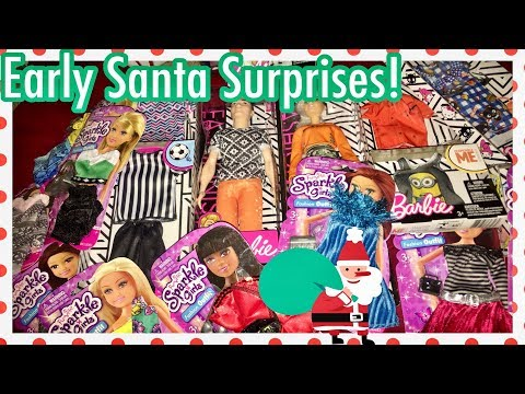 early-santa-gifts-for-mama-~-barbie-dolls-&-sparkle-girls-clothes-christmas-haul
