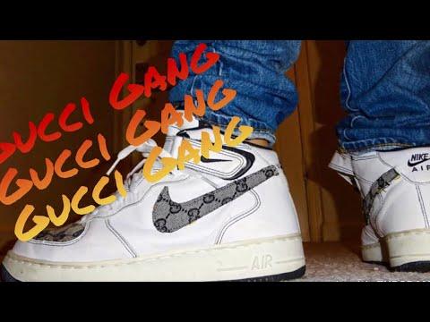 TBT Nike Air Force 1 Gucci Custom