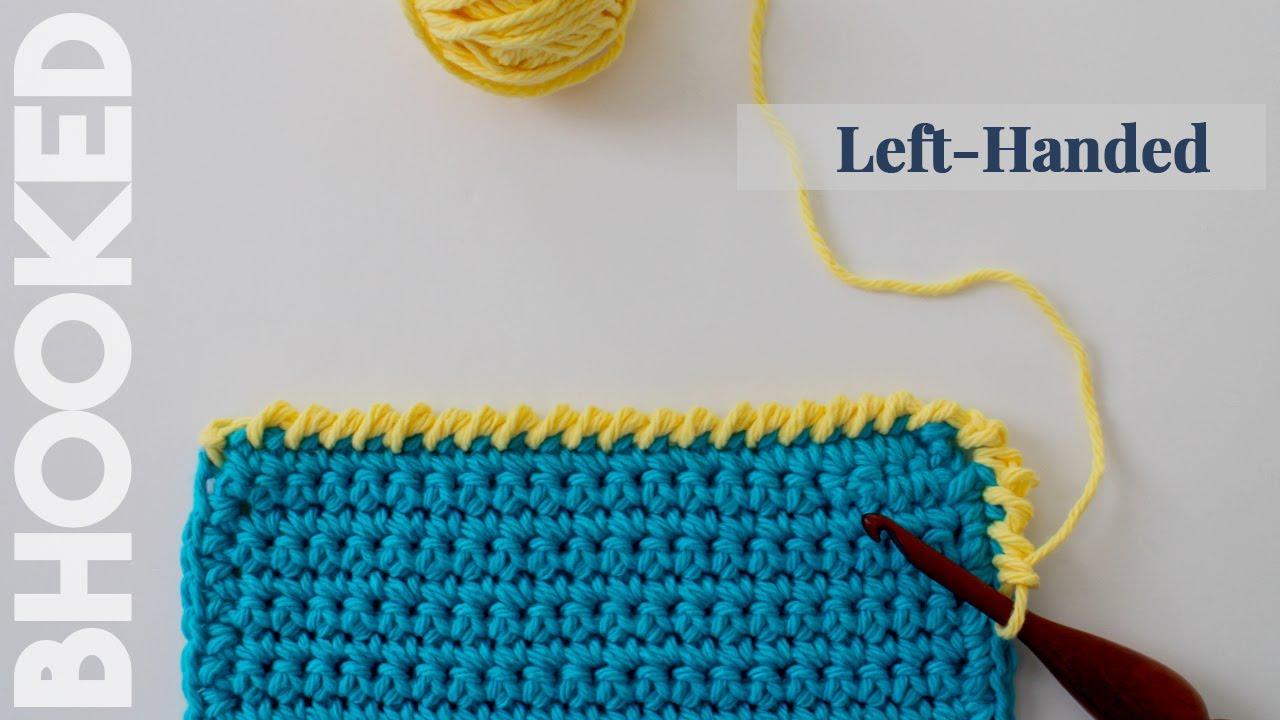 Reverse Single Crochet : Reverse Single Crochet Stitch Left Handed - YouTube