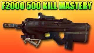 BF4 F2000 Dog Tag 500 Kill Mastery | Battlefield 4 Assault Rifle Gameplay