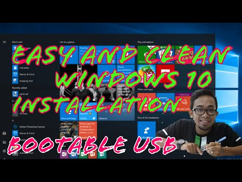TUTORIAL PC : INSTALL WINDOWS 10 USING BOOTABLE PENDRIVE (USB)