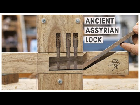 Making An Ancient Wooden Lock (Replica)