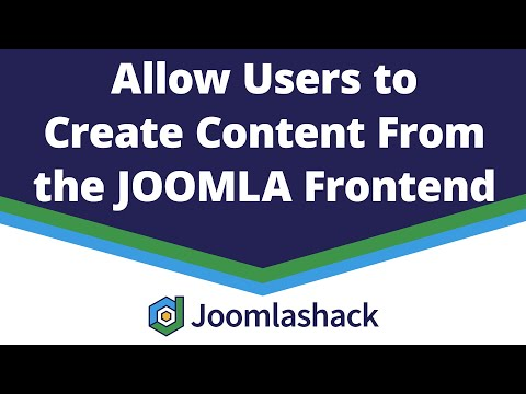 Allow Users To Create Content From The Joomla Frontend