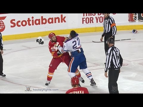 Milan Lucic vs Deryk Engelland Jan 21, 2017