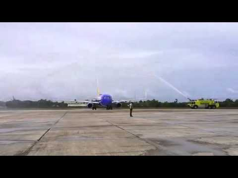 Arrival of the first Southwest flight to Belize