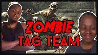 THE EPIC ZOMBIE TAG TEAM!!  - Black Ops 2 Zombies Gameplay ft. Juice & Trent