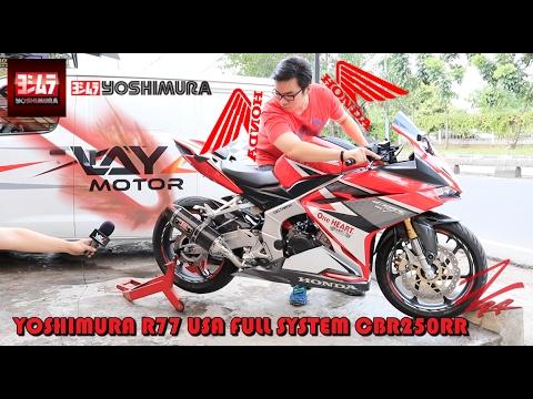 Yoshimura r77 usa honda cbr250rr full system layz motor for Honda cbr250rr usa