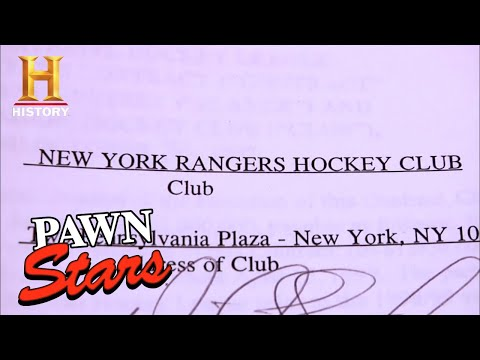 Pawn Stars: Wayne Gretzky's NHL Player's Contract (Season 7) | History