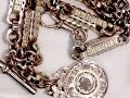 9 ct Yellow Gold Double Albert Watch Chain and Fob - Antique Circa 1890 and 1913 - A3475