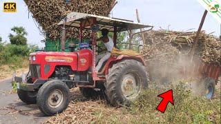 Tractor Shaktimaan 50 HP Tractor fully loaded sugarcane mini Trailer