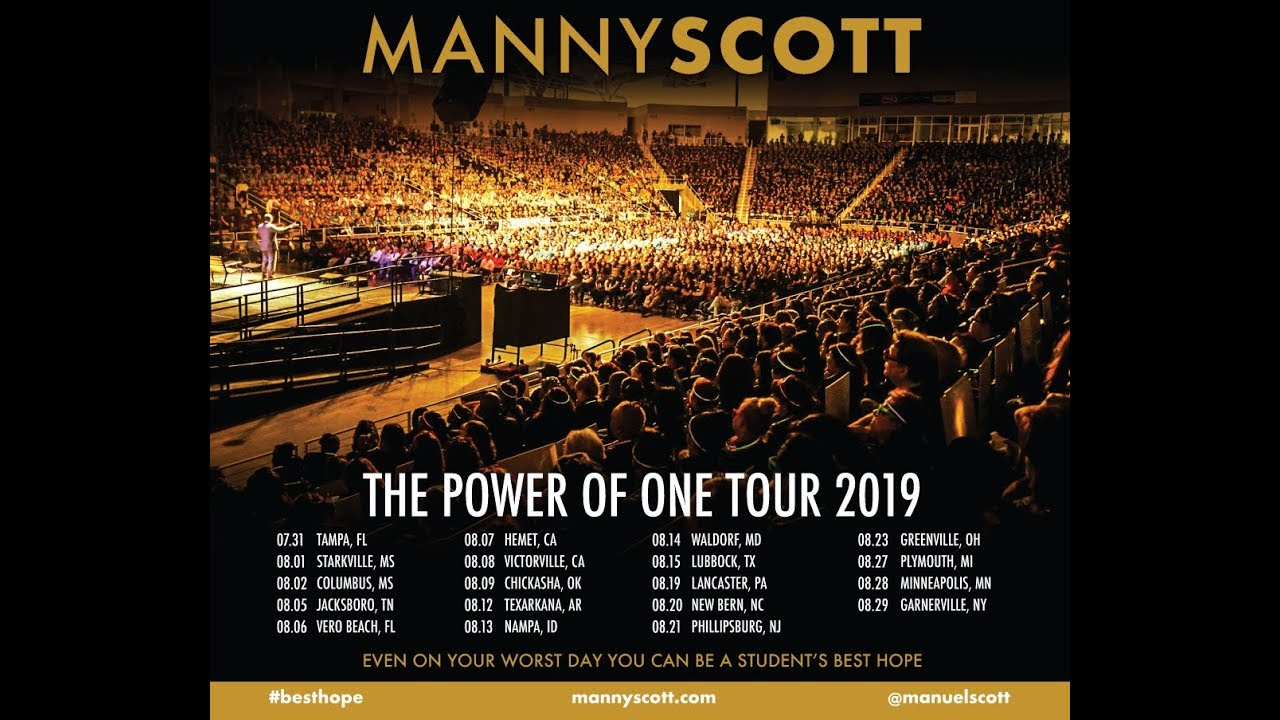 Manny Scott's Power of One Tour 2019 - YouTube