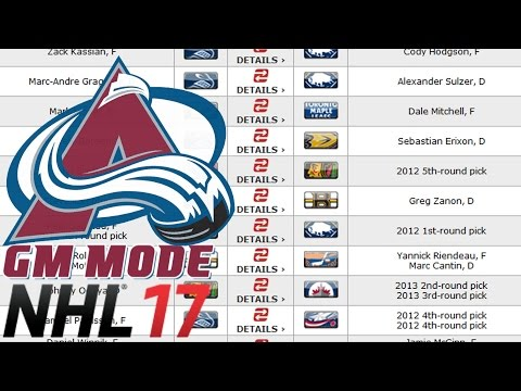 Trades Galore - NHL 17 - GM Mode Commentary - Colorado ep. 19