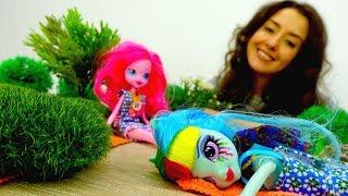 Видео для детей. Веселая школа. Эксвестрия куклы на пляже.