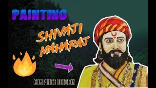 How to draw Shivaji Maharaj face drawing - Timelapse - Akshay Jagtap Official