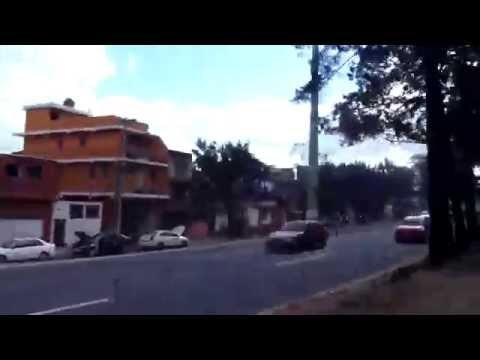 Driving through Guatemala City, Guatemala