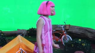 LazyTown with Chloe Lang (Stephanie) behind the scenes