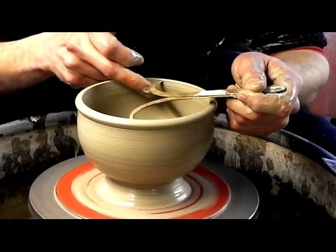 Throwing / Making a Pottery Rose Bowl on the Wheel