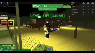 Roblox Zombie attack! Highest recorded level on YT