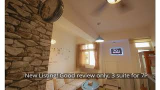 New Listing! Good review only, 3 suite for 7P