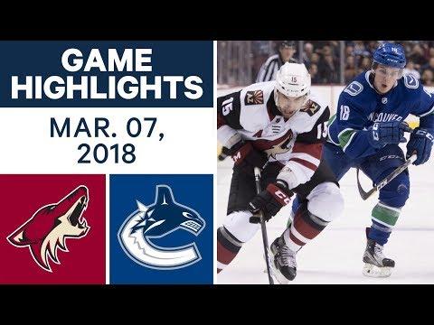 NHL Game Highlights | Coyotes vs. Canucks - Mar. 07, 2018