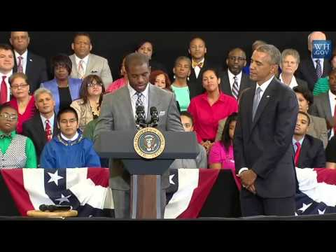 """Chris Paul Introduces President Barack Obama and """"My Brother's Keeper"""" Program"""
