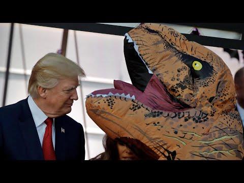 Donald Trump's bizarre Halloween encounters