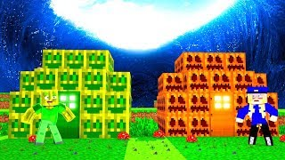 MELONEN HAUS vs. KÜRBIS HAUS - Minecraft TSUNAMI