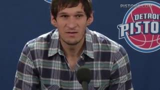 Boban Marjanovic   Introductory Press Conference   Detroit Pistons ¦ 2016 NBA Free Agency