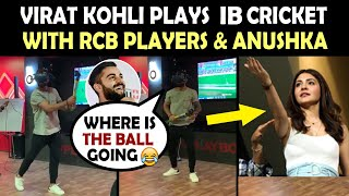 IPL 2019 : Virat Kohli playing IB Cricket Game with RCB players & Anushka Sharma | RCB vs MI