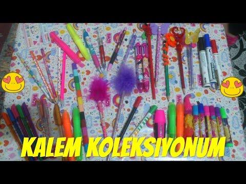 Kalem Koleksiyonum Fosforlu Simli Keçeli Uçlu Tükenmez Kalemlerim # ABONELERİME SELAMLAR
