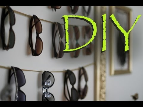 DIY EASY Sunglasses U0026 Accessory Hanger Display Organizer