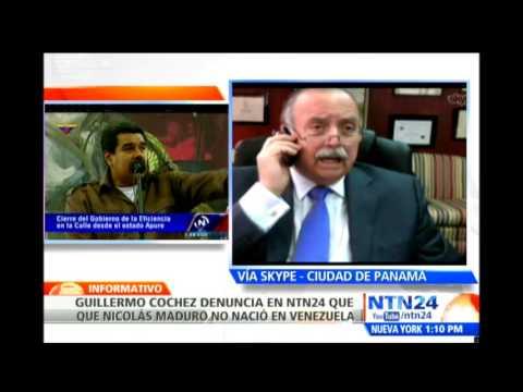 Guillermo Cochez denuncia en NTN24 que Nicolás Maduro tiene registro de nacimiento colombiano