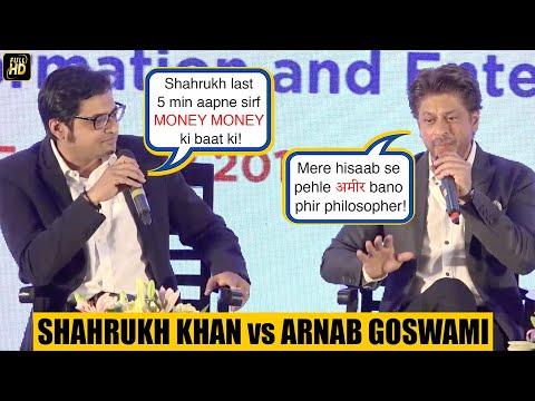 Shah Rukh Khan & Arnab Goswami  At Magnetic Maharashtra Summit 2018