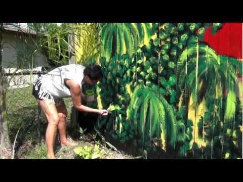 № 2519 Как рисовать на ЗАБОРЕ - Paint the Fence with me - Colorful Jungle Fence 25.05.2012