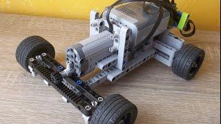 How to build a LEGO RC car chassis/Como construir un chasis para coche RC