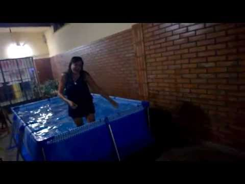 Silvia al agua!!!