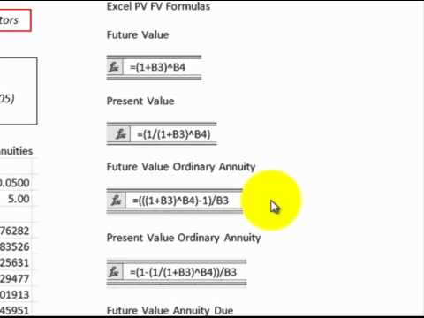 Discount Factors (Excel Formulas Detailed To Replace Factor Tables ...