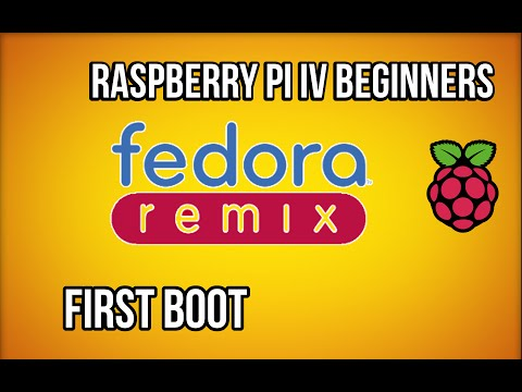 Raspberry Pi - Booting (fedora remix) for the first time
