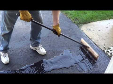 How to Apply a Driveway Sealer - Sealing a Driveway