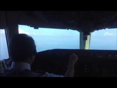 Boeing 767-300 Orient thai cockpit landing at HKT