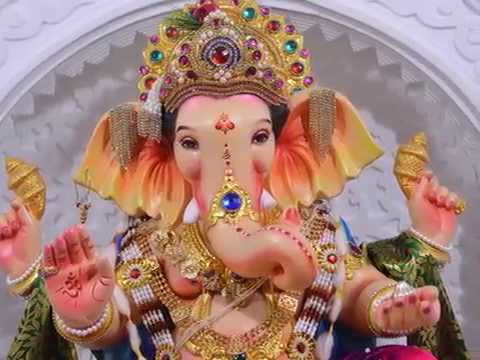 Ganpati Decoration With Light Effect 2015 At Home