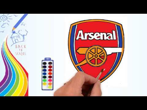 How To Draw Drawing The Arsenal Logo Coloring Pages For Kids