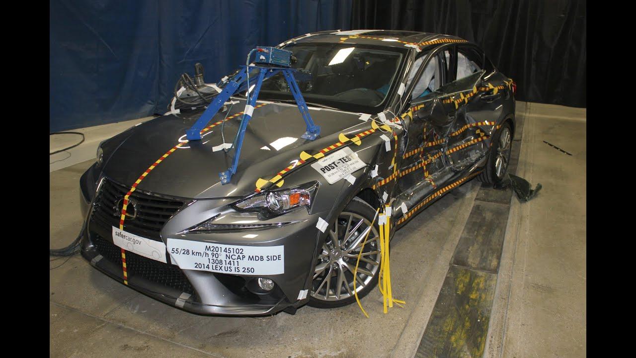 2014 2016 Lexus Is250 Is300h Is350 Nhtsa Side Impact Youtube