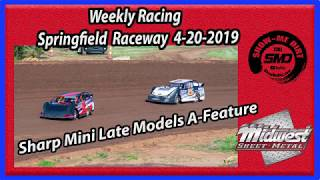 S03 E190 Sharp Mini Late Models A-Feature Weekly Racing Springfield Raceway 4-20-2019 #DirtTrack