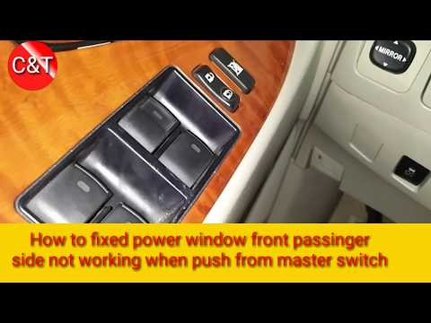 How To Fix Front Power Window Passenger Side Not Working (TOYOTA Camry),